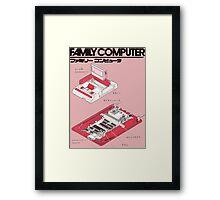 Famicom Diagram  Framed Print