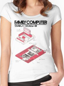 Famicom Diagram  Women's Fitted Scoop T-Shirt