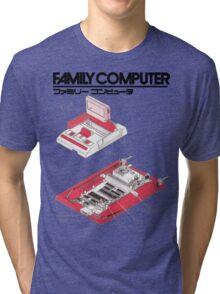Famicom Diagram  Tri-blend T-Shirt
