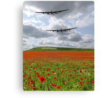 The Two Lancasters - We Remember Them ! Canvas Print