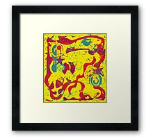 Yellow confusion Framed Print