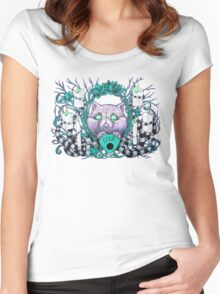 A Seance With Madame Meow-Meow, Gifted Medium Women's Fitted Scoop T-Shirt