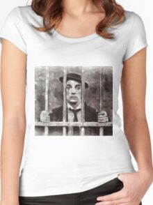 Buster Keaton, Actor Women's Fitted Scoop T-Shirt