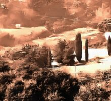 Winter Landscape Umbria Sticker