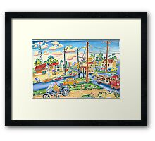 Dodgeville, small town, traffic Framed Print