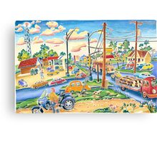 Dodgeville, small town, traffic Canvas Print