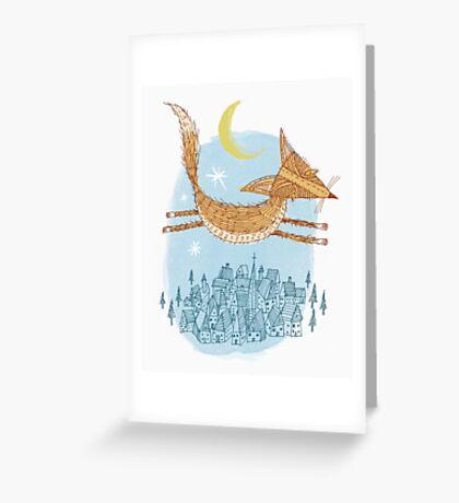 Flying Fox Greeting Card