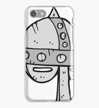 cartoon medieval helmet iPhone Case/Skin