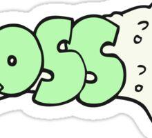 gross cartoon Sticker