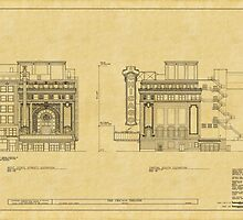Chicago Theatre Blueprint 2 by AndrewFare