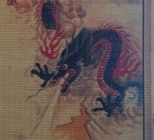 Chinese Dragon scroll Sticker