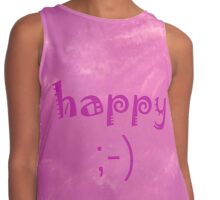 Happy by Nikki Ellina Contrast Tank