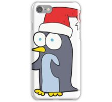 cartoon christmas penguin iPhone Case/Skin