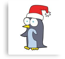 cartoon christmas penguin Canvas Print