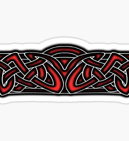 Celtic Knotwork Design Red Sticker