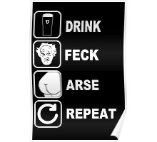 FATHER JACK DRINK FECK ARSE REPEAT FATHER TED Poster