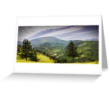 Valley mountain Greeting Card