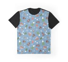 Winter Woodland Animals Graphic T-Shirt