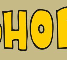 cartoon shop sign Sticker