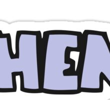 cartoon when? word Sticker