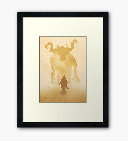 The summoning Framed Print