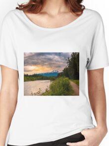 Mount begbie sunset  Revelstoke BC Women's Relaxed Fit T-Shirt