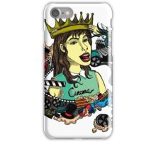 Girl with elements of the film in the illustration iPhone Case/Skin