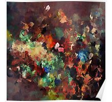 Colorful Contemporary Abstract Painting Poster