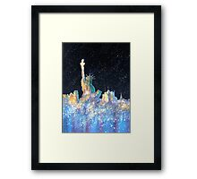 Liberty And New York Cosmos Framed Print