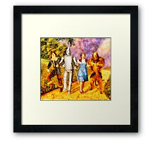 The Wizard of Oz Cast Framed Print
