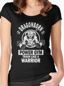 Dovahgym (Dragonborn Gym) Women's Fitted Scoop T-Shirt