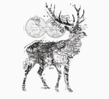 Deer Wanderlust Black and White Kids Tee
