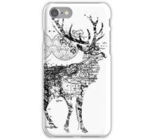 Deer Wanderlust Black and White iPhone Case/Skin