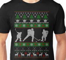 Hockey Ugly Christmas Design Unisex T-Shirt