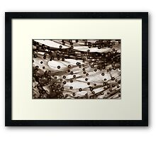 PINK BUBBLES Framed Print
