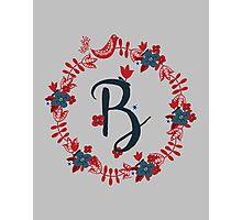 Scandinavian Monogram B Photographic Print