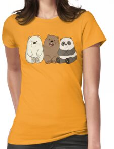 We Bare Bears Cubs Babies Womens Fitted T-Shirt