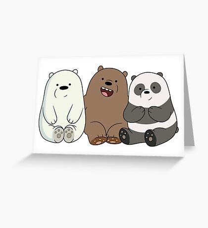 We Bare Bears Cubs Babies Greeting Card