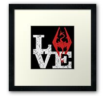 Skyrim Love Framed Print
