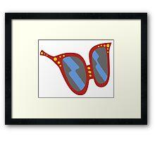 Glasses Clear Framed Print
