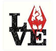 Skyrim Love (Black) Art Print