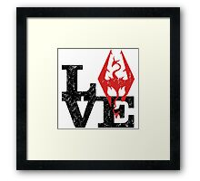 Skyrim Love (Black) Framed Print