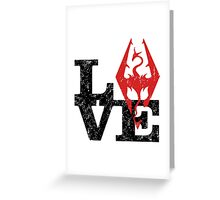 Skyrim Love (Black) Greeting Card