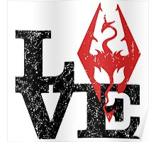 Skyrim Love (Black) Poster