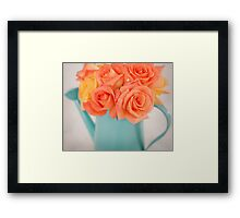 Beautiful orange and yellow roses Framed Print