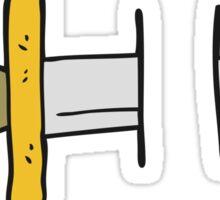 cartoon tattoo knife symbol Sticker