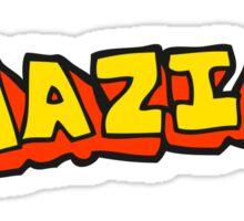 cartoon amazing word Sticker