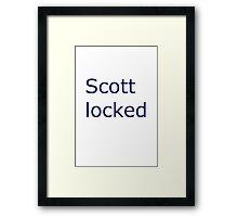 I am scottlocked Framed Print