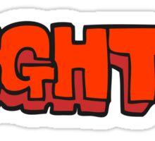 cartoon right symbol Sticker