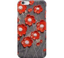 Orange Blossoms on Gray iPhone Case/Skin